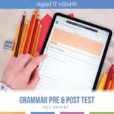 Digital Self Grading Grammar Pre-Test and Post-Test for Hi