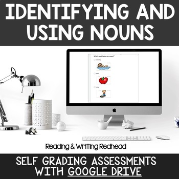 Digital Self Grading Identifying and Using Nouns Assessments for Google Drive