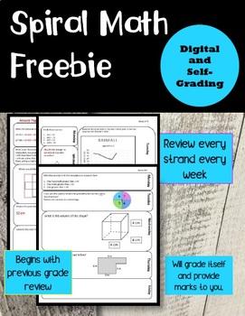 Digital Self-Grading Math Freebie