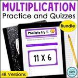 Digital Self-Grading Multiplication Practice & Quizzes BUN