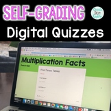 Digital Self-Grading Multiplication Quizzes for 0 to 12 Times Tables