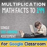 Digital Self Grading Multiplication Test Distance Learning