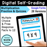 Digital Self-Grading Multiplication to 12 Practice & Quizz