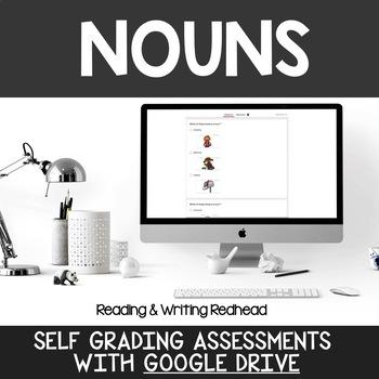 Digital Self Grading Nouns Assessments for Google Drive
