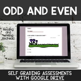 Digital Self Grading Odd and Even Assessments for Google Drive