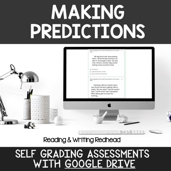 Digital Self Grading Making Predictions Assessments for Google Drive