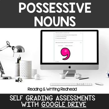 Digital Self Grading Possessive Nouns Assessments for Google Drive