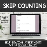 Digital Self Grading Skip Counting Assessments for Google Drive