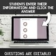 Digital Self Grading Telling Time to the 5 Minute  Assessments for Google Drive