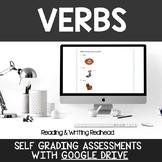 Digital Self Grading Verbs Assessments for Google Drive