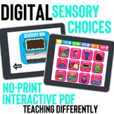 Digital Sensory Choice Board for Distance Learning