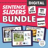 Digital Sentence Sliders Bundle for Speech Therapy
