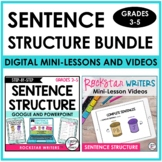 Digital Sentence Structure Unit | Writing Mini-Lesson Vide