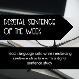 Digital Weekly Sentence Structure