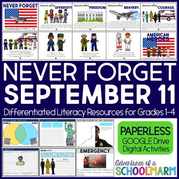 September 11 DIGITAL Patriot Day 9/11 First Responders (Google Paperless ONLY)