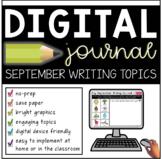 Digital September Writing Journal (Distance Learning for K-2)