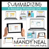 Digital Summarizing Reading Workshop Unit | Distance Learning