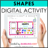 Digital Shape Activities Google Classroom™ and Seesaw™ Dis