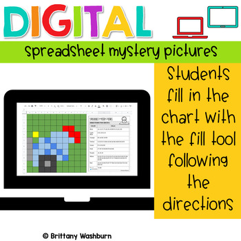 Digital Sheets/Excel Mystery Pictures BUNDLE