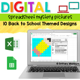 Digital Sheets/Excel Mystery Pictures   Back to School Theme