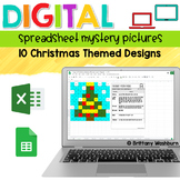 Digital Sheets/Excel Mystery Pictures   Christmas Theme