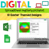 Digital Sheets/Excel Mystery Pictures   Easter Theme