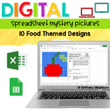 Digital Sheets/Excel Mystery Pictures   Food Theme