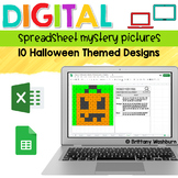 Digital Sheets/Excel Mystery Pictures   Halloween Theme