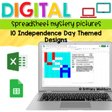 Digital Sheets/Excel Mystery Pictures   Independence Day Theme
