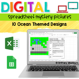 Digital Sheets/Excel Mystery Pictures   Ocean Theme