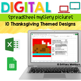 Thanksgiving Digital Sheets/Excel Mystery Pictures