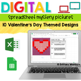 Digital Sheets/Excel Mystery Pictures   Valentine's Day Theme