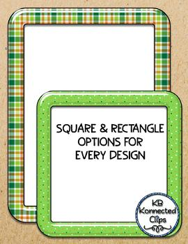 "Digital ""Shiny"" St. Patrick's Day Frames Mega Pack Rectangle & Square 13 Designs"