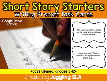 Short Story Starters Task Cards Google Drive Edition (Aligned with the CCSS)