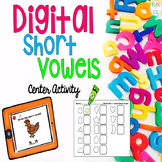 Digital Short Vowel Center Activity FREEBIE