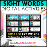 Digital Sight Word Activities for Google Slides™ and Seesa