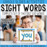 Digital Sight Word Activities (with audio) for The First 1