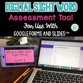 Digital Sight Word Assessment Tool