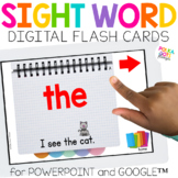 Digital Sight Word Cards for PowerPoint & Google (TM) | Di