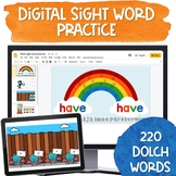 Digital Sight Word Practice   Bundle for Dolch 220 Words   Distance Learning