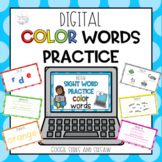 Digital Sight Word Practice COLOR WORDS