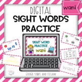 Digital Sight Word Practice WANT