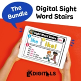Digital Sight Word Stairs Bundle | Distance Learning