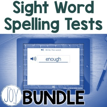 Digital Sight Word Tests for Words 1-100 BUNDLE - Distance Learning