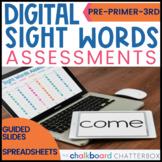 Digital Sight Words Assessments