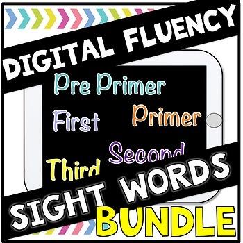 Digital Sight Words Fluency BUNDLE