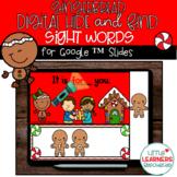 Digital Sight Words Gingerbread Hide and Seek Fun for Dist