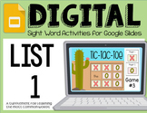 Digital Sight Words: List 1 ~ Reading Horizons' Most Common Words