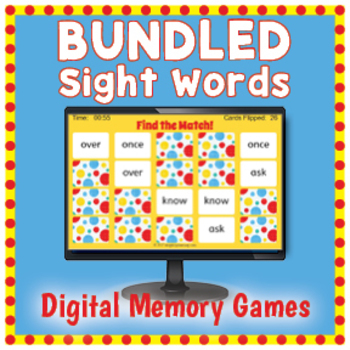 Sight Words Interactive Memory Games - BUNDLED
