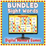 DIGITAL Sight Word Memory Matching Game - BUNDLED